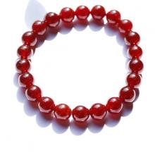 Vòng tay đá ngọc hồng lưu garnet AAA hạt 9mm mệnh hỏa, thổ - Ngọc Quý Gemstones