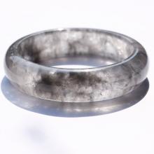 Vòng tay liền khối đá thạch anh khói bản hẹ mệnh thủy,kim - Ngọc Quý Gemstones