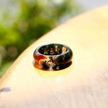 Nhẫn nữ đá băng ngọc thủy tảo huyết ni19 kiểu dáng 2 mệnh hỏa, mộc, thổ - Ngọc Quý Gemstones