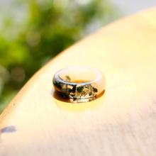Nhẫn nữ đá băng ngọc thủy tảo huyết ni17 mệnh hỏa, mộc, thổ - Ngọc Quý Gemstones