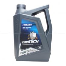 Nhớt động cơ AISIN ECSF2054P 20W-50 CF4 SG econTECH+ Semi Synthetic 4L