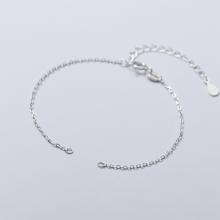 Charm bạc dây xích gắn 2 đầu - Ngọc Quý Gemstones