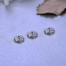Charm bạc chup hạt hoa văn - Ngọc Quý Gemstones