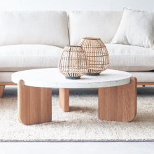 Bàn sofa, bàn trà Native mặt đá Terrazzo cozino