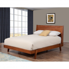 Giường đôi Oglet gỗ sồi 2m0