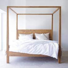 Giường đôi Poster gỗ sồi 1m8