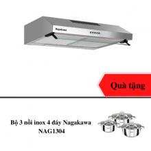 Máy hút mùi Nagakawa NAG1801-90T - vỏ inox sang trọng - hàng chính hãng - tặng bộ 3 nồi inox