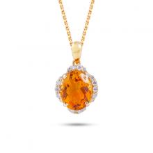 Mặt dây đá màu DOJI vàng 14K NA514-YG