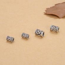 Charm chặn hạt họa tiết hoa văn 4x6x2.3mm - Ngọc Quý Gemstones
