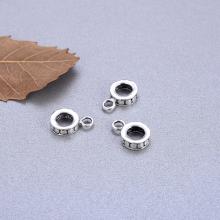 Charm bạc gắn charm treo họa tiết chấm bi - Ngọc Quý Gemstones