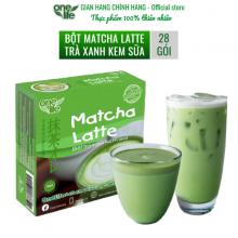 Trà sữa matcha Nhật Bản- matcha latte Onelife (bột trà xanh kem sữa) - Hộp 28 gói