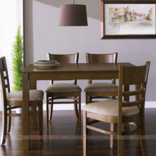 Bộ bàn ăn 4 ghế Ulsan ( bàn 1m4 )