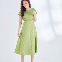 Đầm xòe tay chờm HeraDG xanh cốm SDPBA006