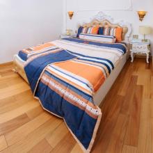 Chăn chần gòn sọc cam xanh 200x220cm cotton cao cấp Pierre Cardin