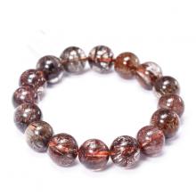 Vòng tay đá thạch anh tóc nâu ánh kim 14mm mệnh thổ, kim - Ngọc Quý Gemstones