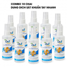 Combo 10 chai dung dịch sát khuẩn tay nhanh On1 Protect 100ml hương BamBoo Charcoal (mẫu mới 2021)