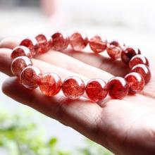 Vòng tay thạch anh tóc đỏ 13mm mệnh hỏa, thổ - Ngọc Quý Gemstones