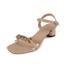 Giày sandal quai xích Erosska kiểu dáng Hàn Quốc cao 5cm EB035