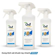 Combo 3 chai dung dịch sát khuẩn tay nhanh On1 Protect Hương BamBoo Charcoal 500ml C0202 (Mẫu mới 2021)