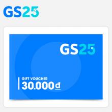 Phiếu quà tặng GS25 30.000 VNĐ