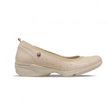 Giày đi bộ nữ Bata Da tổng hợp và Vải Textile cao cấp màu Be - 651-8901