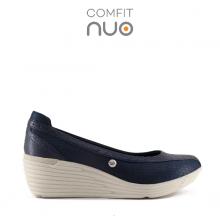 Giày đi bộ nữ Bata Da tổng hợp màu Xanh Navy - 751-9354