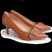 Giày công sở nữ Bata Da tổng hợp màu Nâu - 751-4918