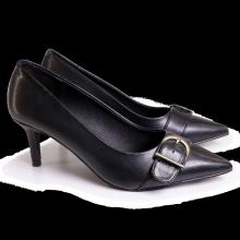 Giày công sở nữ Bata Da tổng hợp màu Đen - 751-6918