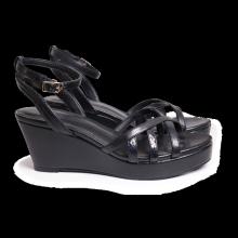 Sandal nữ Bata Da tổng hợp màu Đen - 761-6731