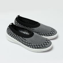 Giày đi bộ nữ Bata Vải dệt cao cấp màu Họa tiết đen trắng - 559-6611