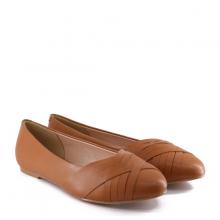 Giày bệt nữThương hiệu Bata Da tổng hợp màu Nâu - 551-4123