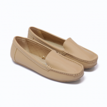 Giày đi bộ nữ Thương hiệu Bata Da tổng hợp màu Be - 551-8881