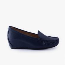 Giày đi bộ nữ Thương hiệu Bata Da tổng hợp màu Xanh Navy - 651-9071