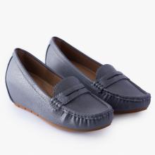 Giày đi bộ nữ Thương hiệu Bata Da tổng hợp màu Xám - 651-2034