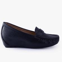 Giày đi bộ nữ Thương hiệu Bata Da tổng hợp màu Đen - 651-6034