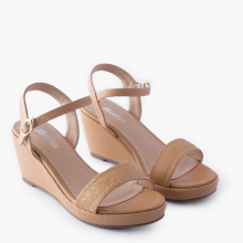 Sandal nữ Thương hiệu Bata Da tổng hợp màu Nâu đậm - 761-4008