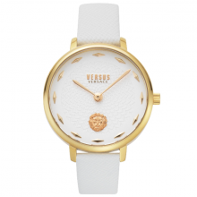Đồng hồ Nữ Versus VSP1S0319 cao cấp chính hãng bảo hành toàn cầu - Máy Pin - Dây da màu trắng