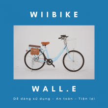Xe đạp trợ lực điện Wiibike Wall.E 40 - Xanh