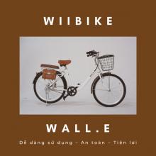 Xe đạp trợ lực điện Wiibike Wall.E 40 - Trắng