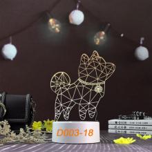 Đèn Ngủ Trang Trí LED 3D Mẫu Mới Tâm House D003-18