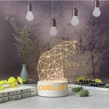 Đèn Ngủ Trang Trí LED 3D Mẫu Mới Tâm House D003-20