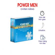 Bao cao su Powermen INVI 0.03 Frozen siêu mỏng, kéo dài hương bạc hà mát lạnh Hộp 3 chiếc
