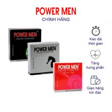 Combo 3 Hộp Bao cao su Powermen gân gai, tăng khoái cảm, kéo dài - Hộp 3 chiếc