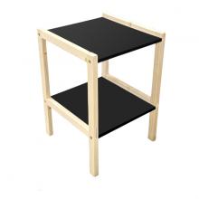 Kệ gỗ tab đầu giường 2 tầng tự lắp ráp Tâm House KT99 - gỗ thông tự nhiên