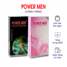 Combo Bao cao su gai gân Powermen kéo dài quan hệ + Bao cao su siêu mỏng kéo dài Hộp 12 cái