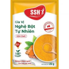 Hộp KINH TẾ 30 gói - Gia vị nghệ bột tự nhiên SSH Deli 25g - Hàng chính hãng