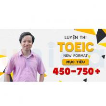 Khóa TOEIC new format mục tiêu 450-750+