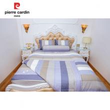 Chăn chần gòn sọc xanh xám 200x220cm cotton cao cấp Pierre Cardin