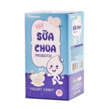 Kẹo sữa chua Probiotic chứa thành phần sữa chua lên men, bổ sung enzym lợi khuẩn tốt cho sức khỏe