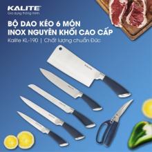 Bộ dao kéo 6 món Kalite KL 190 -Tặng cân sức khỏe UN-135 trị giá 299k